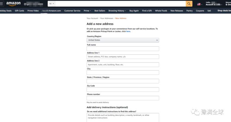 △新增买家地址亚马逊前台怎么切换位置邮编?